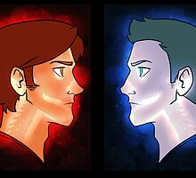 Sam and Dean-Vessel Prints by Cookiecutter60
