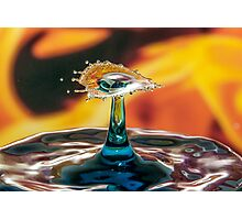 High Speed Water Droplet Collison Photographic Print
