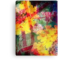Floral ribbon print Canvas Print