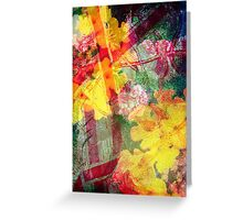 Floral ribbon print Greeting Card