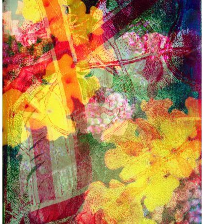 Floral ribbon print Sticker