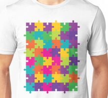 Colorful Jigsaw Puzzle Pattern Unisex T-Shirt