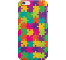 Colorful Jigsaw Puzzle Pattern iPhone Case/Skin