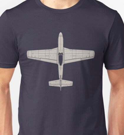 North American P-51D Mustang Unisex T-Shirt