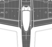 North American P-51D Mustang Sticker