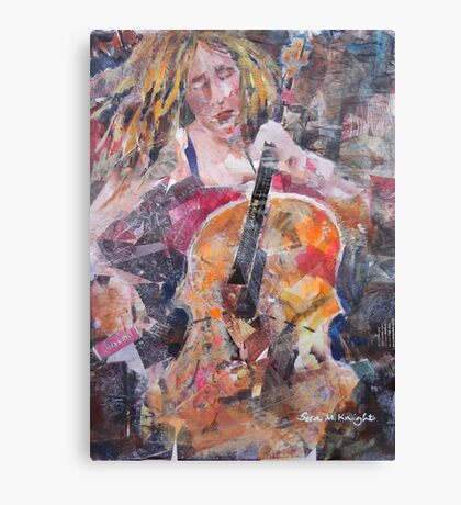 Painting Of Female Cellist - Music Art Gallery Canvas Print