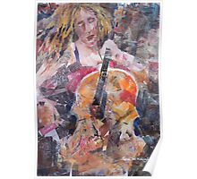 Painting Of Female Cellist - Music Art Gallery Poster