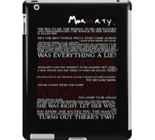 Mor(ia)rty (alternate) iPad Case/Skin