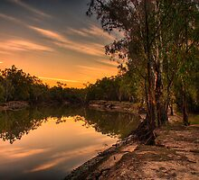 river sunset by outbacksnaps