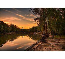 river sunset Photographic Print