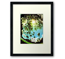 so shady Framed Print