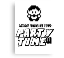 8-bit PARTY TIME!! Canvas Print