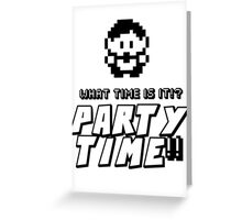 8-bit PARTY TIME!! Greeting Card