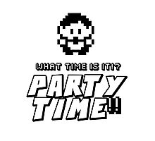 8-bit PARTY TIME!! Photographic Print