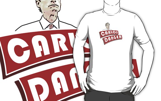 Carlos Danger aka Anthony Weiner T Shirt by BroadcastMedia