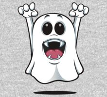 Cartoon Ghost - With Fangs! Kids Clothes