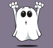 Cartoon Ghost - Going Boo! Kids Tee