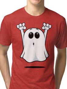 Cartoon Ghost - Going Boo! Tri-blend T-Shirt