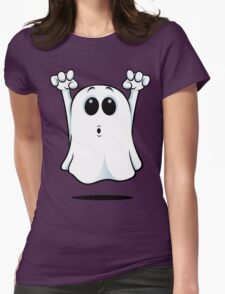 Cartoon Ghost - Going Boo! Womens Fitted T-Shirt