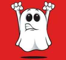 Cartoon Ghost - Growling One Piece - Short Sleeve
