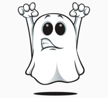 Cartoon Ghost - Growling Kids Clothes