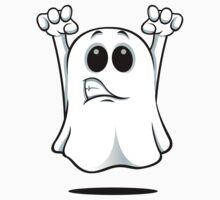Cartoon Ghost - Growling Kids Tee