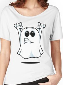 Cartoon Ghost - Growling Women's Relaxed Fit T-Shirt