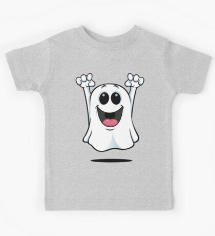 Cartoon Ghost - Happy Kids Tee