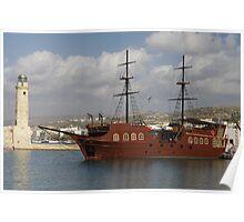 Pirate Galleon - Rethymno Poster
