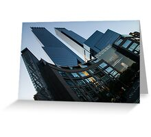 New York Curves and Skyscrapers Greeting Card