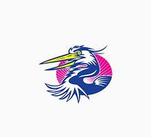 Great Blue Heron Head Retro Unisex T-Shirt