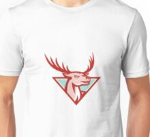 Deer Stag Buck Head Woodcut  Unisex T-Shirt