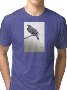 Long tailed blue bird 2 Tri-blend T-Shirt