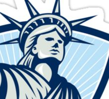 Statue of Liberty Holding Scales Justice Sword Sticker
