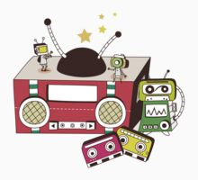 Boombox Cartoon T-Shirt 1 by retrorebirth