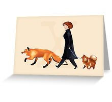 Fox & Dana Greeting Card
