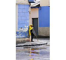 Information Man In Penipe Photographic Print