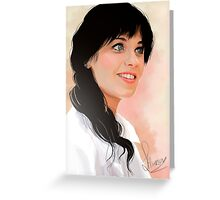 Zooey Deschanel Greeting Card