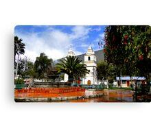 Town Square in Penipe, Ecuador Canvas Print