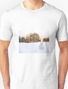Landscape with Snowman T-Shirt