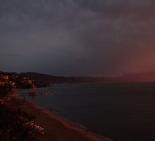 godly sunset I - puesta del sol divina by Bernhard Matejka