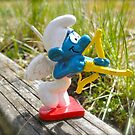 Cupid smurf by freshairbaloon