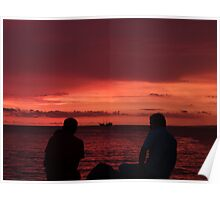 godly sunset II - puesta del sol divina Poster