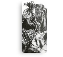 Still life with dotted ribbon Metal Print