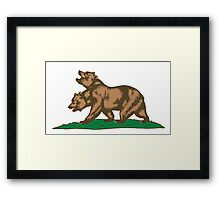 New Bears of the Californian Republic Framed Print
