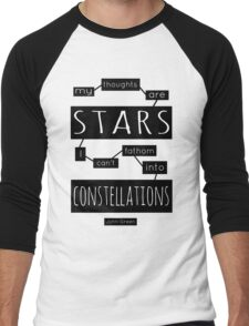 """TFiOS: """"My Thoughts Are Stars"""" Men's Baseball ¾ T-Shirt"""