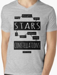 """TFiOS: """"My Thoughts Are Stars"""" Mens V-Neck T-Shirt"""