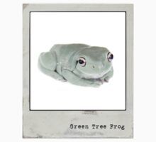 Green Tree Frog Polaroid Kids Tee