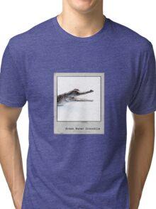 Fresh Water Crocodile Polaroid Tri-blend T-Shirt