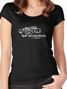 Atomikon - hand sketch version Women's Fitted Scoop T-Shirt